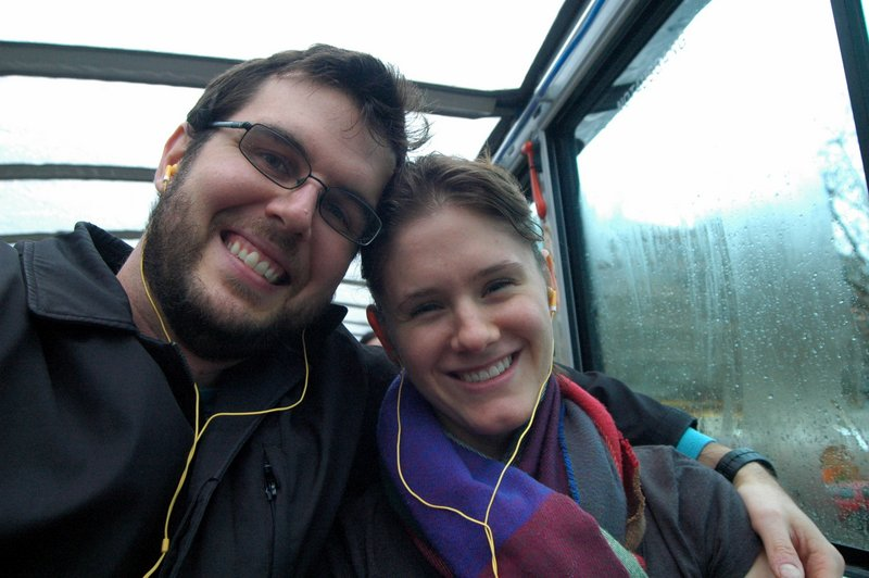 The *only* thing we did in Dresden was take a tour bus ride . . . in German. We do not speak German. WHY are smiling???