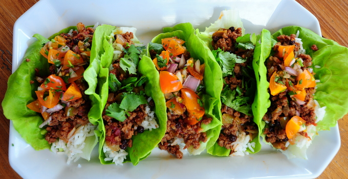 Cuban Picadillo Lettuce Wraps Slider